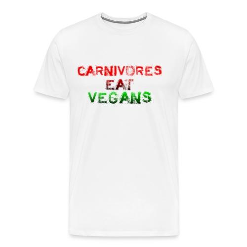 Carnivores Eat Vegans tee - Men's Premium T-Shirt