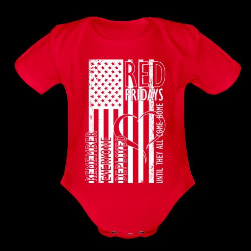 RED Fridays - Remember Everyone Deployed - Organic Short Sleeve Baby Bodysuit