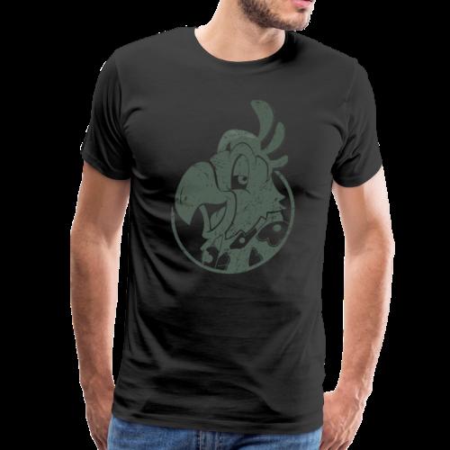 Vintage Men's T-Shirt v.3 (GREEN PRINT) - Men's Premium T-Shirt