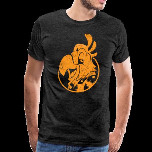 Vintage Men's T-Shirt v.3 (ORANGE PRINT) - Men's Premium T-Shirt