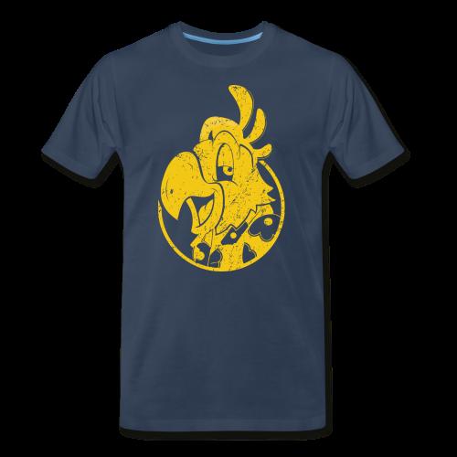 Vintage Men's T-Shirt v.3 (YELLOW PRINT) - Men's Premium T-Shirt