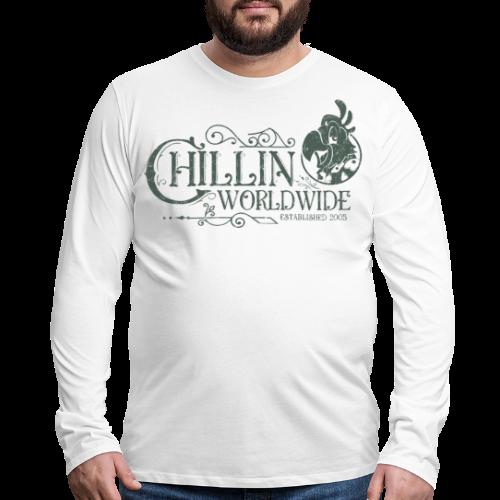 Vintage Men's Long Sleeve T-Shirt v.1 (GREEN PRINT) - Men's Premium Long Sleeve T-Shirt