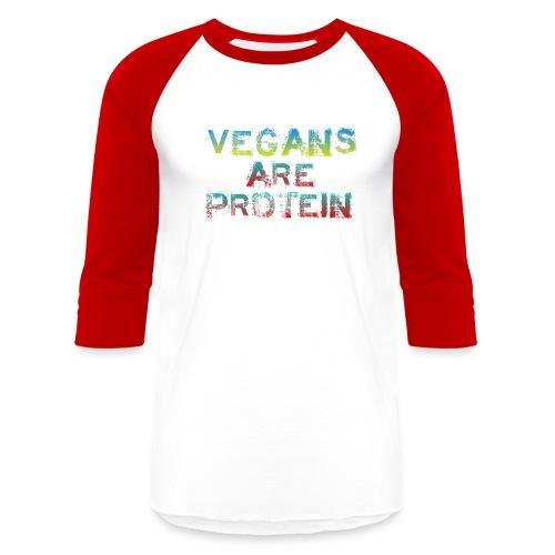 Vegans Are Protein Baseball tee - Baseball T-Shirt