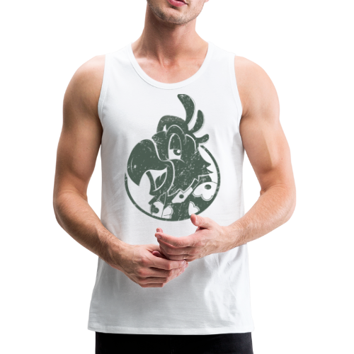 Vintage Men's Tank Top v.2 (GREEN PRINT) - Men's Premium Tank