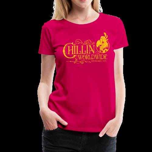Vintage Women's T-Shirt v.1 (YELLOW PRINT) - Women's Premium T-Shirt