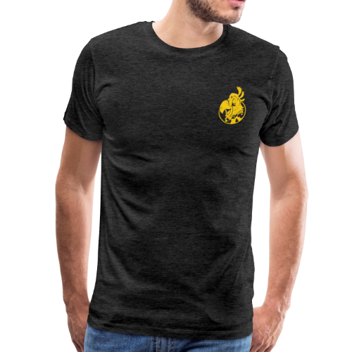 Vintage Men's T-Shirt v.2 (YELLOW PRINT) - Men's Premium T-Shirt