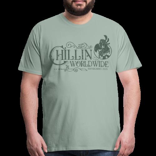 Vintage Men's T-Shirt v.1 (GREEN PRINT) - Men's Premium T-Shirt