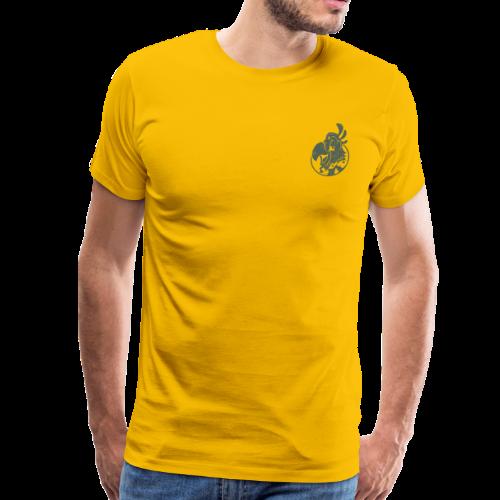 Vintage Men's T-Shirt v.2 (GREEN PRINT) - Men's Premium T-Shirt