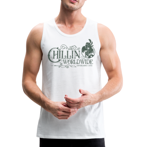 Vintage Men's Tank Top v.1 (GREEN PRINT) - Men's Premium Tank