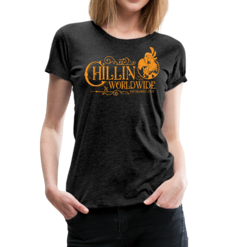 Vintage Women's T-Shirt v.1 (ORANGE PRINT) - Women's Premium T-Shirt