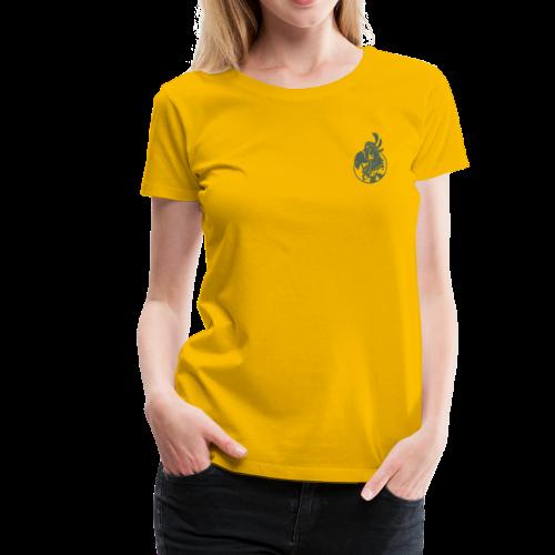 Vintage Women's T-Shirt v.2 (GREEN PRINT) - Women's Premium T-Shirt