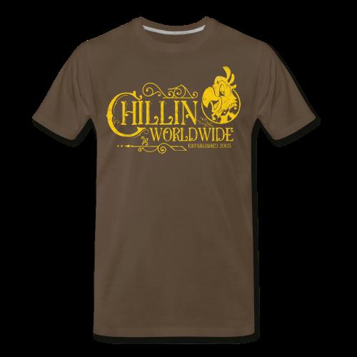 Vintage Men's T-Shirt v.1 (YELLOW PRINT) - Men's Premium T-Shirt