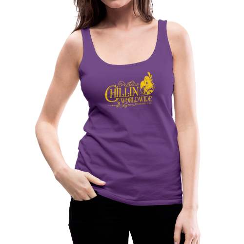 Vintage Women's Tank Top v.1 (YELLOW PRINT) - Women's Premium Tank Top