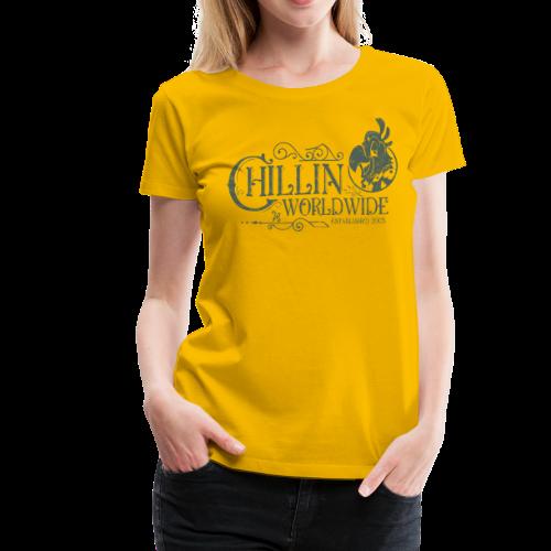 Vintage Women's T-Shirt v.1 (GREEN PRINT) - Women's Premium T-Shirt