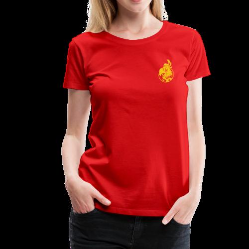 Vintage Women's T-Shirt v.2 (YELLOW PRINT) - Women's Premium T-Shirt