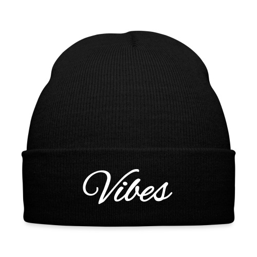Vibes - Knit Cap with Cuff Print
