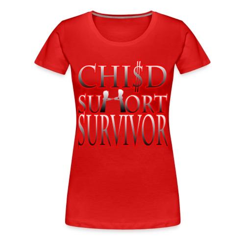 Child Support Survivor Red Women's Tee - Women's Premium T-Shirt