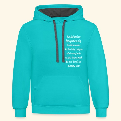 Prayer For Freedom - Contrast Hoodie