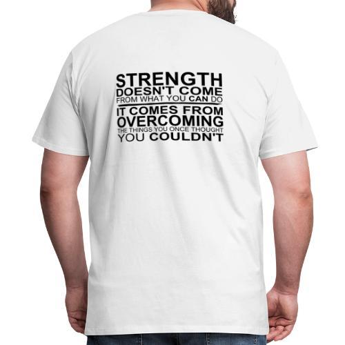 white powerful t shirt - Men's Premium T-Shirt