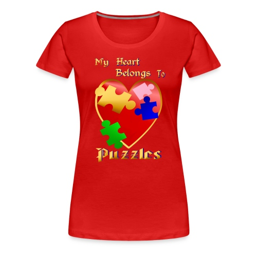 My Heart Belongs To Puzzles - Women's Premium T-Shirt