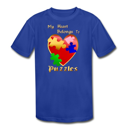 My Heart Belongs To Puzzles - Kids' Moisture Wicking Performance T-Shirt