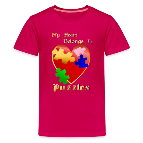 My Heart Belongs To Puzzles - Kids' Premium T-Shirt