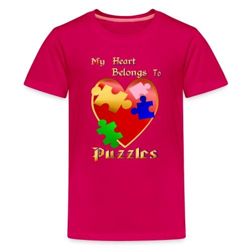My Heart Belongs To Puzzles - Kids' Premium T-Shirt
