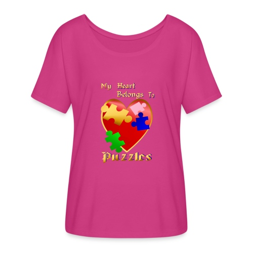 My Heart Belongs To Puzzles - Women's Flowy T-Shirt