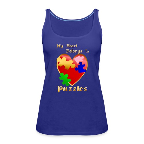 My Heart Belongs To Puzzles - Women's Premium Tank Top