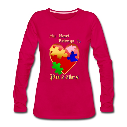My Heart Belongs To Puzzles - Women's Premium Long Sleeve T-Shirt