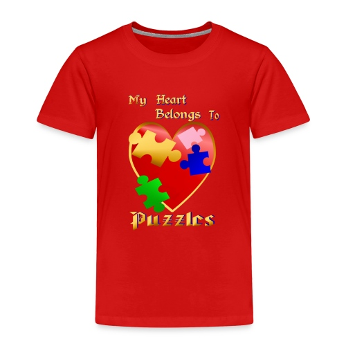 My Heart Belongs To Puzzles - Toddler Premium T-Shirt