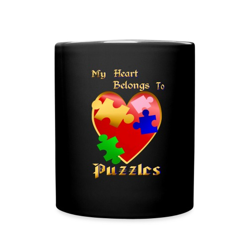 My Heart Belongs To Puzzles - Full Color Mug
