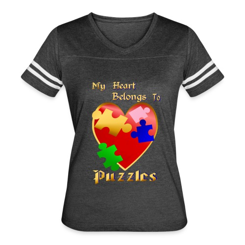 My Heart Belongs To Puzzles - Women's Vintage Sport T-Shirt