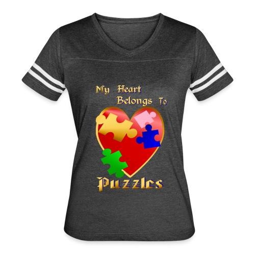 My Heart Belongs To Puzzles - Women's Vintage Sport T-Shirt