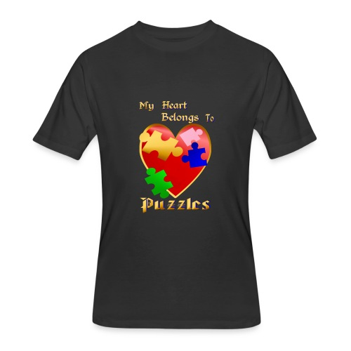 My Heart Belongs To Puzzles - Men's 50/50 T-Shirt