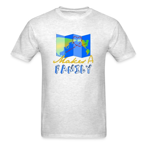 Love Makes a Familiy - Men's T-Shirt