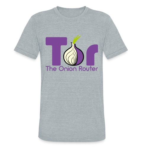 Tor - The Onion Router - Unisex Tri-Blend T-Shirt
