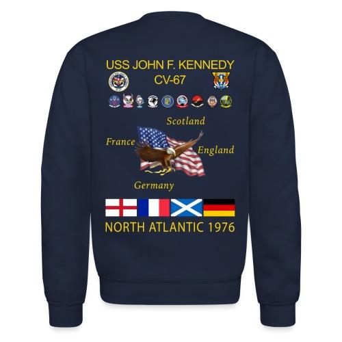 USS JOHN F KENNEDY CV-67 1976 NORLANT CRUISE SWEATSHIRT - Crewneck Sweatshirt