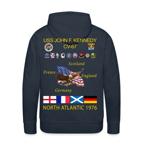 USS JOHN F KENNEDY CV-67 1976 NORLANT CRUISE HOODIE - Men's Premium Hoodie