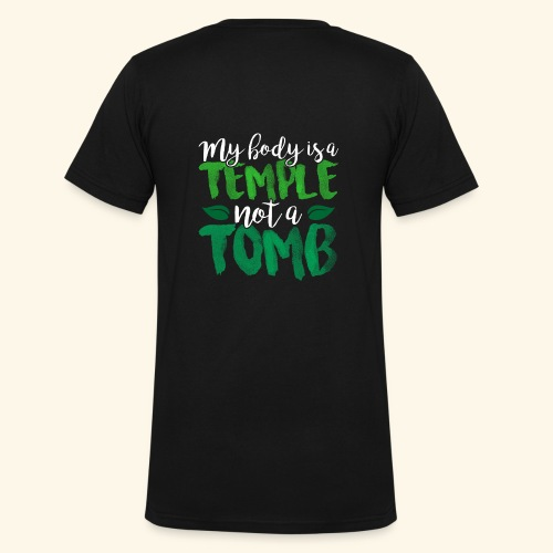 My Body is a Temple - Men's V-Neck T-Shirt by Canvas