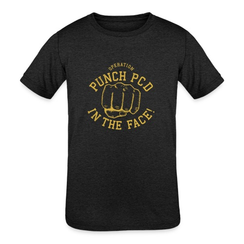 Kids Tri-Blend Punch PCD in the Face - Kids' Tri-Blend T-Shirt