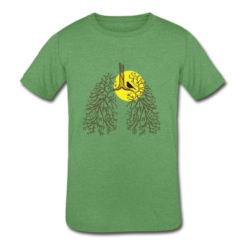 Kids Tri-Blend Lungs - Kids' Tri-Blend T-Shirt