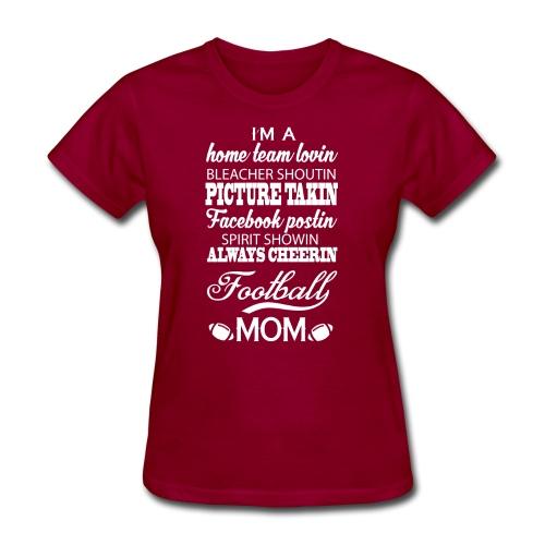 Proud Football Mom - Women's T-Shirt