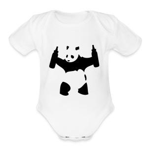 panda - Short Sleeve Baby Bodysuit