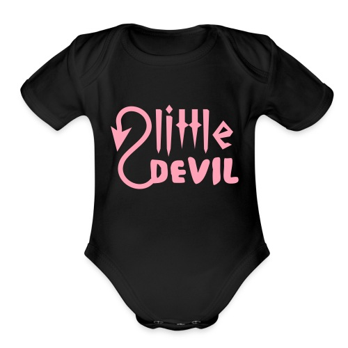 devil - Organic Short Sleeve Baby Bodysuit
