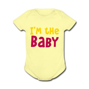 i'm the baby - Short Sleeve Baby Bodysuit