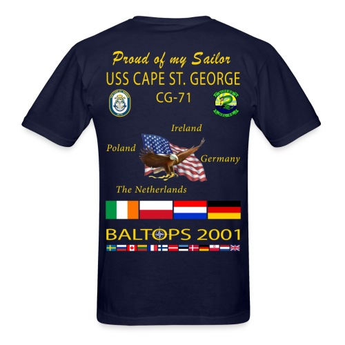 USS CAPE ST GEORGE 2001 CRUISE SHIRT - FAMILY - Men's T-Shirt