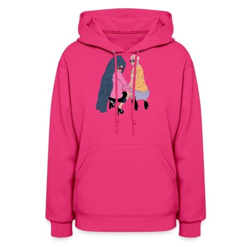 SASSY SALIB Hoodie: Pretty Pink - Women's Hoodie