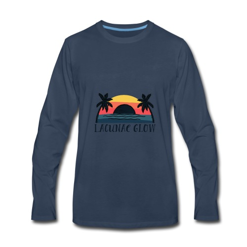 Men's Long Sleeve T - Palm Tree Sunset Lacunae Glow - Men's Premium Long Sleeve T-Shirt