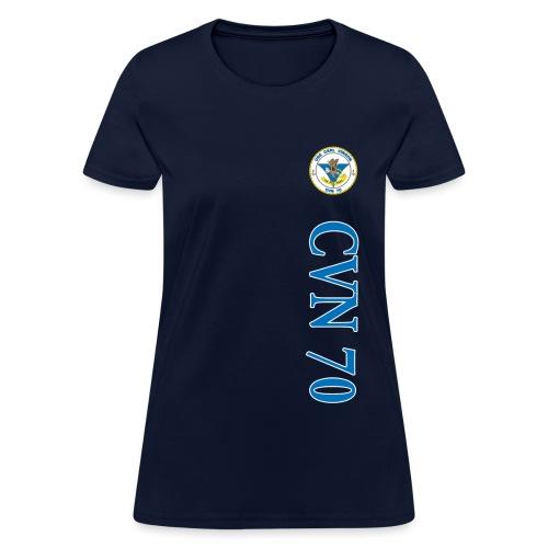 USS CARL VINSON CVN-70 WOMENS VERT STRIPE SHIRT - Women's T-Shirt